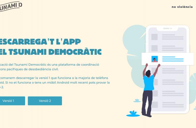 L'App de Tsunami Democràtic: què és i com funciona?