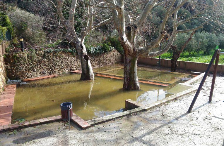 La Font de Baix, inundada