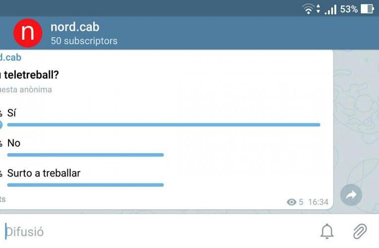 Participeu a les enquestes de nord.cab a Telegram