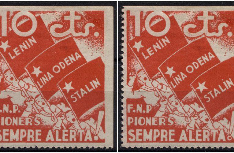 Les set diferències amb segells de la guerra civil espanyola