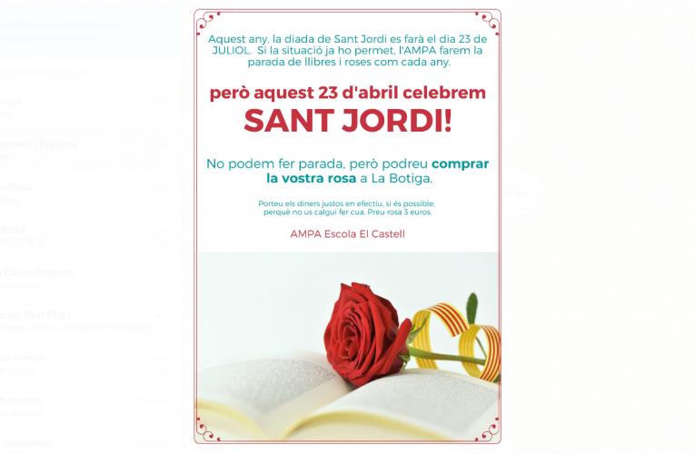 L'AMPA celebrarà Sant Jordi venent roses a la botiga