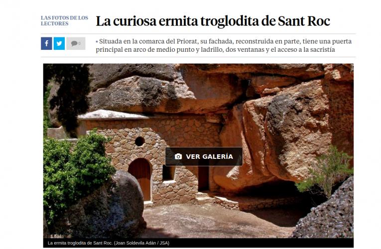 L'ermita de Sant Roc, a La Vanguardia